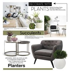 Grow a Little: Planters by cruzeirodotejo on Polyvore featuring interior, interiors, interior design, home, home decor, interior decorating, Allstate Floral, plants and planters