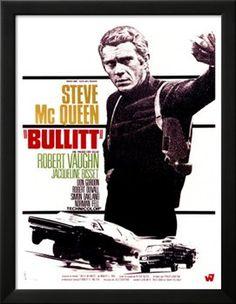 Bullitt, French Movie Poster, 1968 Art Print at Art.co.uk
