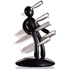 Raffaele Iannello Black Voodoo Knife Block W5 Knives Version2 | Not for sale to persons under the age of 18. By placing an order for this product, you declare that you are 18 years of age or over.