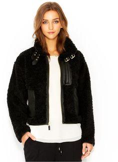Rachel Roy RACHEL Faux-Fur Mixed-Media Bomber Jacket on shopstyle.com