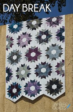 by Jaybird Quilts Fat-quarter friendly quilt. Uses the Hex N More and Sidekick rulers. (Without these tools, you will need template plastic to make your own templates.) 4 sizes: Baby, Lap, Full, King.