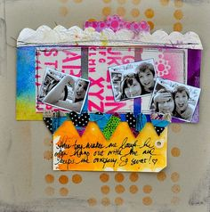 Beautiful, bright, whimsical page (by:  Dina Wakely)