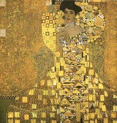 """Gustav Klimt  Austrian  1862 - 1918  """"Adele Bloch-Bauer I"""""""