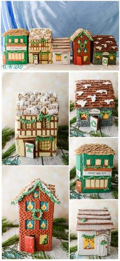 I've been imagining this gingerbread house decorating project for at least three years now. An entire street scene right out of Victorian London and Charles Dickens' A Christmas Carol. I finally made the time to do it this year! Gingerbread House Designs, Gingerbread House Parties, Gingerbread Village, Christmas Gingerbread House, Cool Gingerbread Houses, Gingerbread Cookies, Christmas Carol, Christmas Home, Christmas Sweets