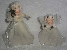 Vintage Christmas Angel Figures. Loved these!!!