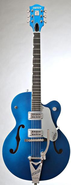 ohh yess GRETSCH G 6120shbtv setzer hot rod micros tv jones regal blue - Guitares électriques - Demi-caisse | Woodbrass.com #GretschGuitars