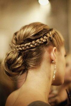 Crown Braid Bridesmaid Hair