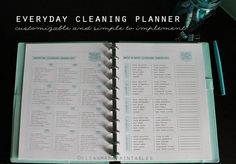 Clean Mama's EVERYDAY Cleaning PLANNER takes the work out of figuring out what to clean and when to clean it!  | Clean Mama Printables