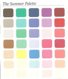 summer color analysis palette - Google Search