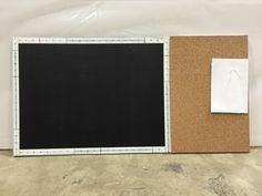 Magnetic chalkboard/ cork board. Getting ready for school (Aug 2015)