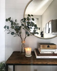Home Interior Simple Best Fall Candles for 2019 that Add Coziness.Home Interior Simple Best Fall Candles for 2019 that Add Coziness Entryway Decor, Bedroom Decor, Entryway Stairs, Hallway Table Decor, Hallway Console, Entryway Mirror, Wood Stairs, Entryway Ideas, Hall Way Decor