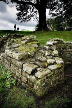 Birdoswald Fort, Hadrian's Wall, occupied by Roman auxiliaries from approximately AD 112 to AD via English Heritage.have always wanted to see hadrians wall. Ancient Ruins, Ancient Rome, Hadrian's Wall, Roman Britain, England, English Heritage, English Countryside, Cumbria, Wanderlust