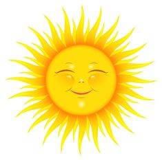Transparent Cute Sun Picture...hundreds of downloadable clip art pictures!