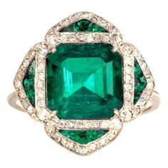 French, circa 1910; Colombian emerald
