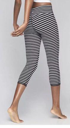 3bef3cea64 Athleta Stripes Chaturanga Capri Black   White Size XS  fashion  clothing   shoes  accessories  womensclothing  activewear (ebay link)
