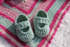 Svarta Fåret : Virkade babyskor - till en nyfödd!