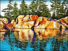 Landscape Paintings and photographs : Margarethe Vanderpas Fine Artist Killarney Ontario Watercolor Landscape, Abstract Landscape, Landscape Paintings, Watercolor Paintings, Landscapes, Watercolour, Canadian Painters, Canadian Artists, Landscape Quilts
