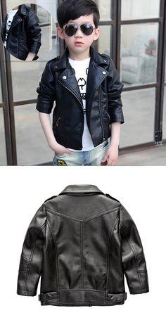 Jacket for Boy 2017 Fashion Classic Children Leather Jacket Neutral Kids Zipper Jackets Baby Girl Outerwear Infant Boy coats