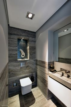 Beautiful modern #toiletdesign with lovely accessoires