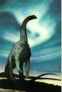 Titanosaur, art by William Stout