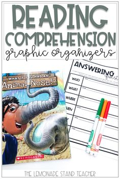 These reading comprehension worksheets and activities are perfect for first grade, 2nd grade, and 3rd grade students. Click the pin to read about how to use these graphic organizers for reading comprehension with your students!