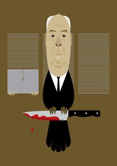 Alfred #Hitchcock - #illustrated Vector #Portraits By Stanley Chow    www.facebook.com/okoknoInc