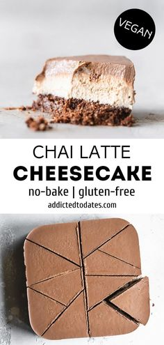 Vegan Dessert Recipes, Healthy Desserts, Just Desserts, Best Vegan Cake Recipe, Lactose Free Desserts, Vegan Baking Recipes, Sweets Recipe, Raw Recipes, Raw Desserts