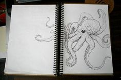 octopus drawing... Could make an amazing tat