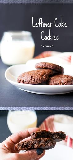 What do you do with leftover cake? Or what about when a bake goes wrong? That's where leftover cake cookies come in! Vegan, easy and delicious.