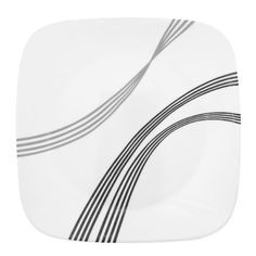 Corelle Square Urban Arc 8-3/4-Inch Square Round Luncheon Plate by World Kitchen (PA). $7.49. Safe for microwave  oven and dishwasher. Sweeping black and gray arches on the square dinnerware creates a truly unique and modern look Urban Arc will work perfectly in contemporary home decors.. Corelle Urban Arc lunch plate. 3-year limited break and chip warranty. Made of lightweight chip  stain and fade resistant laminated bonded glass with mug of durable stoneware. Corelle ...