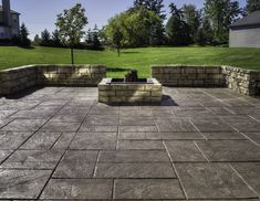 concrete patio with fire pits pictures | fire pit & sitting wall ... - Concrete Patio Designs With Fire Pit