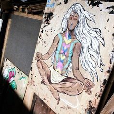 Nenamaste-an 🙏🙇🙏 #artwork #psychedelic #wood #merkabah #meditation #sanggarasi #sanggargarasi #wip
