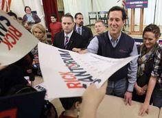 Photo #25 #prezpix #prezpixrs election 2012 candidate: Rick Santorum publication: Los Angeles Times LA Times photographer: Eric Gay AP publication date: 3/5/12