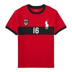Germany Cotton Jersey Tee - Boys 6 - 14 years T-Shirts - Ralph Lauren UK