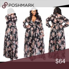 """🎉2X HP!!🎉In the meadows maxi Heads will turn when you're in this dress & you'll feel like a princess! Faux wrap, 20"""" built in slip, waist tie in the back. 12"""" Zipper under left arm, elastic waist, w/a sheer """"flower petal"""" layer to finish off the flowy look!Materials: 100% Polyester. Waist taken unstretched! 1X Bust 48"""" Waist 28"""" Length 59""""+ 2X Bust 50"""" Waist 30"""" Length 61""""+ 3X Bust 51"""" Waist 32"""" Length 63""""+ (Model in a 2x in the photo with 3"""" wedges, 45"""" Bust 56"""" hips). Dress new in…"""