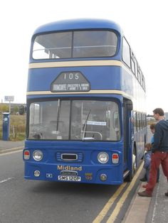 Daimler Fleetline CRG6LXB one of the Free Buses for the Open Days at the Glasgow Vintage Vehicle Trust 2015