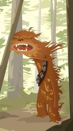 Illustration Chewie by Dake Hayward geek art, starwar, star wars, dalehaywardchewiejpg 502900, illustr