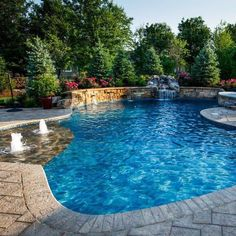 Having a pool sounds awesome especially if you are working with the best backyard pool landscaping ideas there is. How you design a proper backyard with a pool matters. Inground Pool Designs, Backyard Pool Designs, Small Backyard Pools, Swimming Pool Designs, Outdoor Pool, Small Pools, Pool Decks, Living Pool, Pool Colors