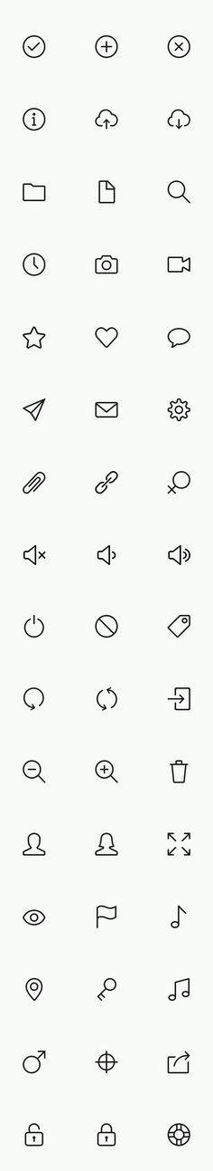A collection of 160 simple stroke icons that are great for mobile applications, websites and user interfaces. All icons are pixel perfect, fully scalable vector shapes released for public use.