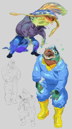 One of the twists I wanted to add was the Werefish monsters. I'm still working on the story behind this but it goes in the direction of a curse or plague or disease fishermen and town folks get. I will share more concepts next week but I want...