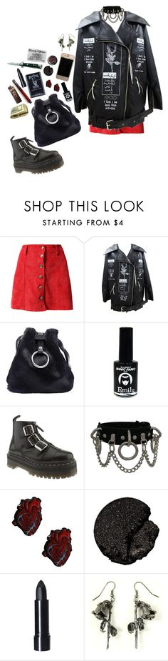 """""""Untitled #164"""" by gabbyortega ❤ liked on Polyvore featuring EMILY THE STRANGE, Dr. Martens, Lancôme and OBEY Clothing"""