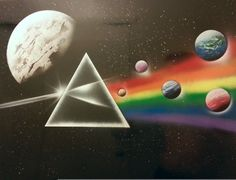 PINK FLOYD The Dark Side of the Moon  Spray Paint Art  by NYCstArt