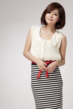Sweet Cute Lapel Sleeveless Folded Chiffon Shirt For Women (WHITE,ONE SIZE) China Wholesale - Sammydress.com