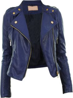 Loving this navy leather jacket | {Panache} Style | Pinterest ...