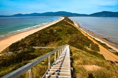 About south of Hobart, on Bruny Island How to see it for yourself? The Neck is a narrow isthmus separating north and south Bruny Island. It is south of Roberts Point, where car Scenery Photography, Travel Photography, Tasmania Hobart, Bruny Island, World Of Wanderlust, Visit Melbourne, Visit Victoria, Holiday Places, Landscape Photos