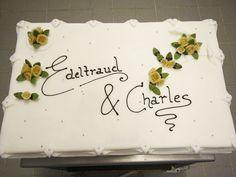 Tabler Torten. Hochzeitstorte mit Namen.