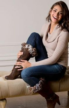 Best Free Crochet » Free Crochet Ruffles-to-Crochet Boot Toppers From RedHeart.com #156