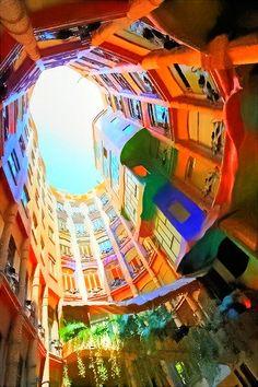 La pedrera. Gaudi. A must see in Barcelona
