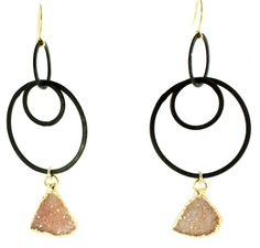 WONDERFUL druzy (drusy) earrings:  http://www.talismancollection.com/collections/nina-nguyen/products/details-coming-soon-42