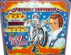 Evel Knievel (Home Model) - Pinball Backglass Image